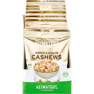 Heimatgut Bio Cashewkerne 125 g, 10er Pack - Bild 1