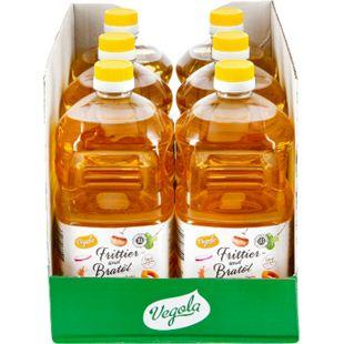 Vegola Frittier- und Bratöl 2 Liter, 6er Pack - Bild 1