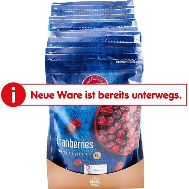 Clarkys Cranberries 200 g, 12er Pack - Bild 1