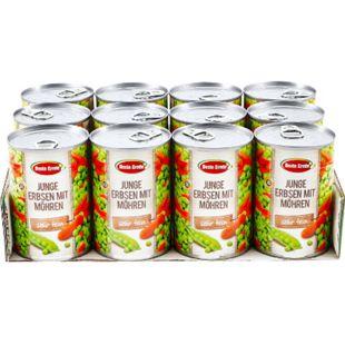 Beste Ernte Erbsen sehr fein mit Möhrchen 265 g, 12er Pack - Bild 1
