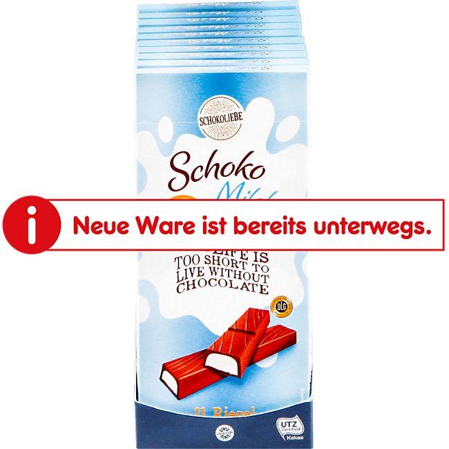 Schokoliebe Schoko-Milch-Riegel 200 g, 10er Pack - Bild 1