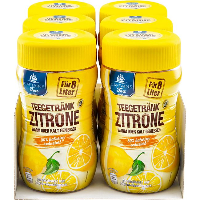 Captains Tea Instanttee Zitrone 400 g, 6er Pack - Bild 1