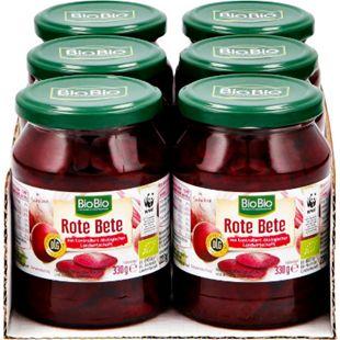 BioBio Rote Bete Scheiben 220 g, 6er Pack - Bild 1