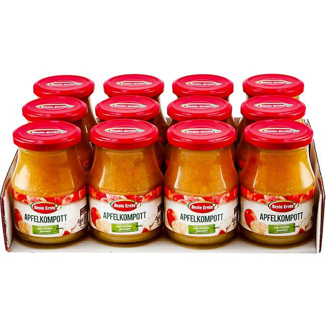 Beste Ernte Apfelkompott mit Stücken 360 g, 12er Pack - Bild 1