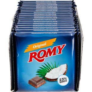 Bild für Romy Kokosschokolade 200 g, 18er Pack