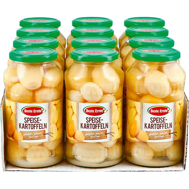 Beste Ernte Speisekartoffeln ganz 425 g, 12er Pack - Bild 1