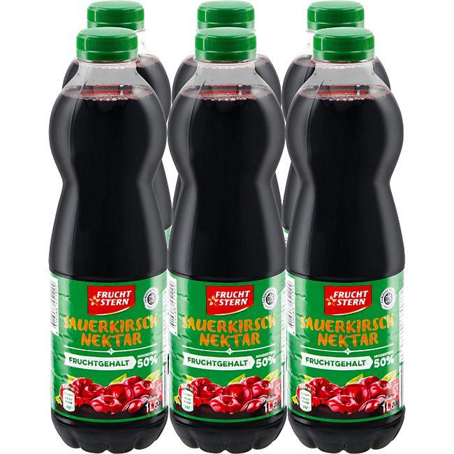 Fruchtstern Sauerkirsch-Nektar 1 Liter, 6er Pack - Bild 1
