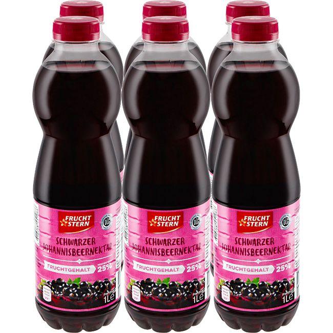 Fruchtstern schwarzer Johannisbeer-Nektar 1 Liter, 6er Pack - Bild 1