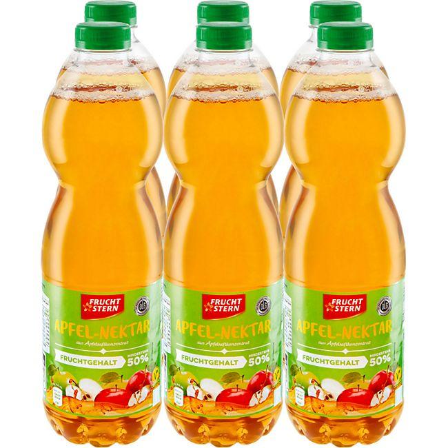 Fruchtstern Apfel-Nektar 1,5 Liter, 6er Pack - Bild 1