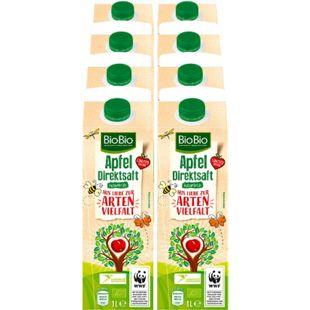 BioBio Apfelsaft 1 Liter, 8er Pack - Bild 1