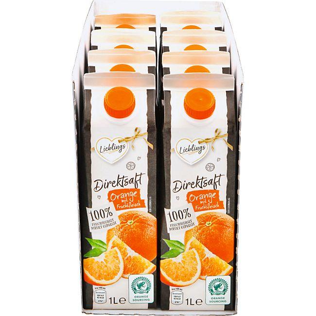 Lieblings Orangendirektsaft 1 Liter, 8er Pack - Bild 1