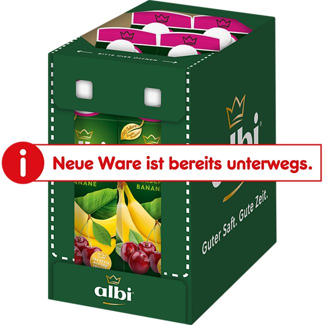 albi Kirsch-Bananen-Nektar 1 Liter, 6er Pack - Bild 1