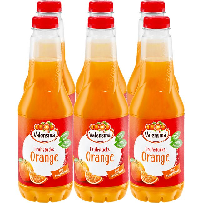 Valensina Frühstücks Orange 1 Liter, 6er Pack - Bild 1