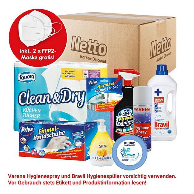 Hygiene-Paket + FFP2 Maske, 2 Stück - Bild 1