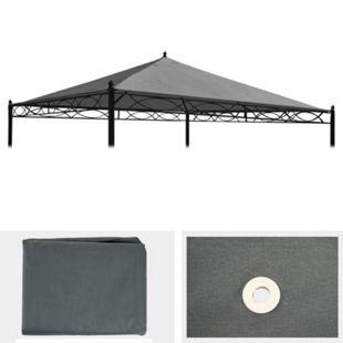 Ersatzbezug für Dach Pergola Pavillon Calpe 3x3m ~ grau - Bild 1