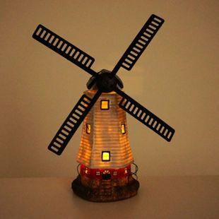 Solar LED-Windmühle MCW-G95, Gartendeko Tischdeko Dekofigur, In-/Outdoor - Bild 1