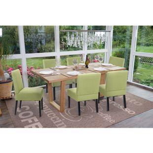 6x Esszimmerstuhl MCW-F61, Stuhl Lounge-Stuhl, Stoff/Textil ~ grün - Bild 1