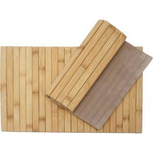 2-teiliges Tischset MCW-E72, Platzdeckchen Tischmatte Platzset, Bambus abwaschbar flexibel 45x30cm - Bild 1