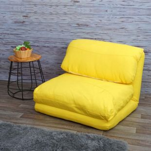 Schlafsessel MCW-E68, Schlafsofa Funktionssessel Klappsessel Relaxsessel, Stoff/Textil ~ gelb - Bild 1