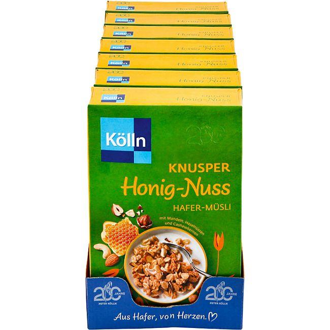 Kölln Knusper Honig-Nuss Müsli 500 g, 7er Pack - Bild 1