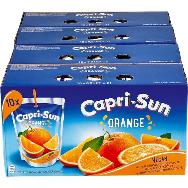 Capri Sun Orange 10 x 0,2 Liter, 4er Pack - Bild 1