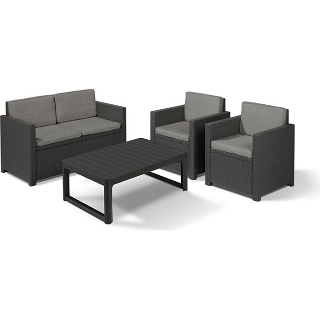 Allibert Victoria Lyon Premium Lounge Set 4-teilig anthrazit - Bild 1