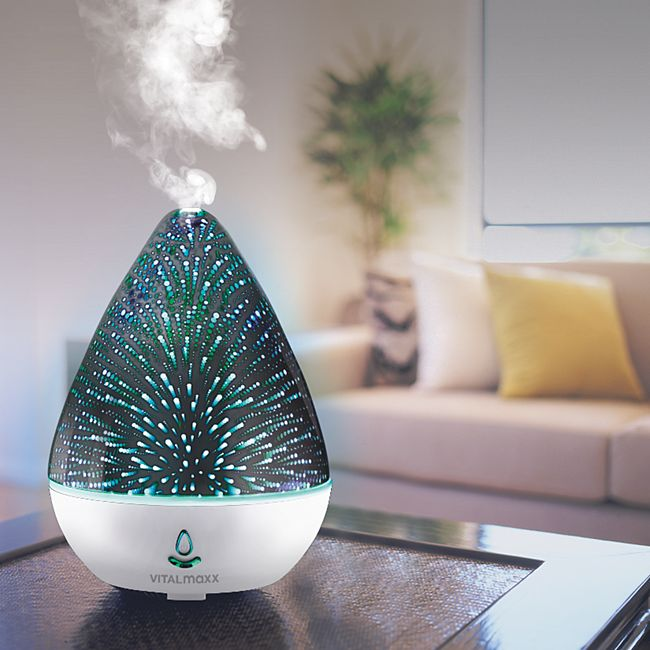 VITALmaxx Luftbefeuchter Glas 2in1 3,7V mehrfarbig - Bild 1