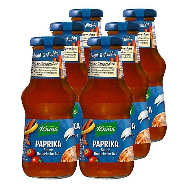 Knorr Paprikasauce ungarische Art 250 ml, 6er Pack - Bild 1