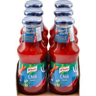 Knorr Chili-Sauce 250 ml, 6er Pack - Bild 1