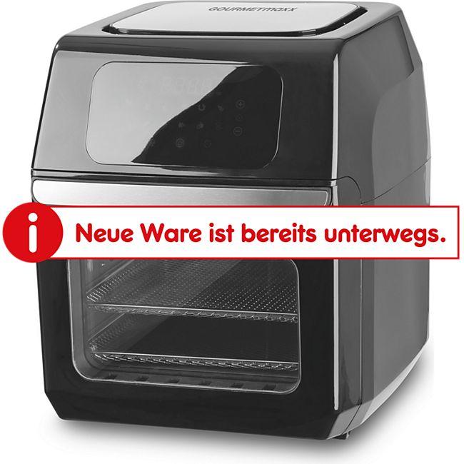 GOURMETmaxx Heißluft-Fritteuse Digital 12l 1800W schwarz - Bild 1
