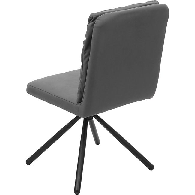 Esszimmerstuhl MCW G58, Küchenstuhl Stuhl, drehbar Auto Position TextilStoff ~ grau