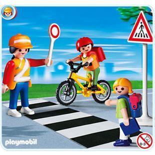 Playmobil Schulweghelferin mit Kindern - Bild 1