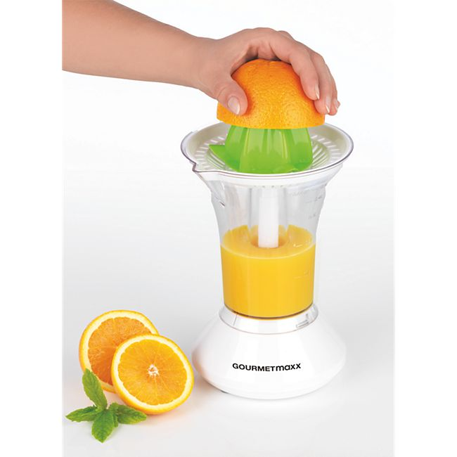 GOURMETmaxx Saftpresse elektrisch 25W weiß/limegreen - Bild 1