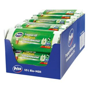 Priva Bio Folienmüllbeutel 15 x 15 Liter, 18er Pack - Bild 1