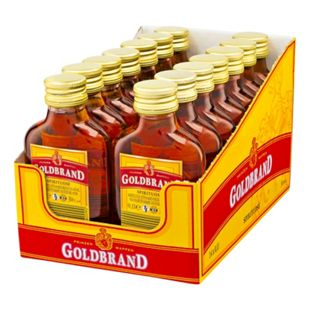 Prinzenwappen Goldbrand 30,0 % Vol. 100 ml, 14er Pack - Bild 1