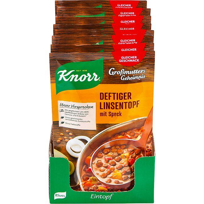 Knorr Großmutters Geheimnis Deftiger Linsentopf ergibt 0,6 Liter, 8er Pack - Bild 1
