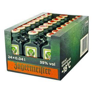Jägermeister Kräuterlikör 35 % Vol. 40 ml, 24er Pack - Bild 1