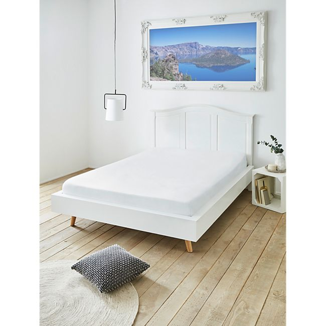 Spannbettuch Boxspringbett 180x200 cm weiß - Bild 1