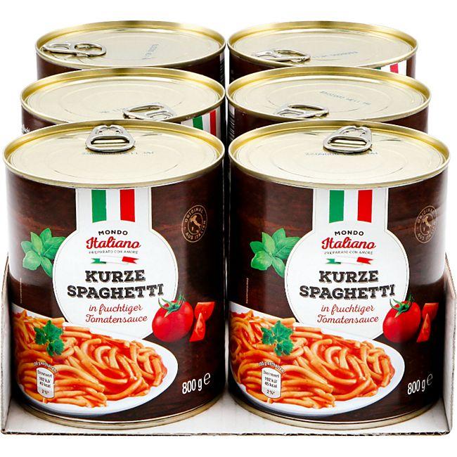 Mondo Italiano Spaghetti in Tomatensauce 800 g, 6er Pack - Bild 1