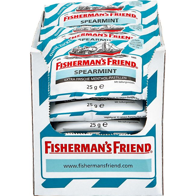 Fishermans Friend Spearemint ohne Zucker 25 g, 24er Pack - Bild 1