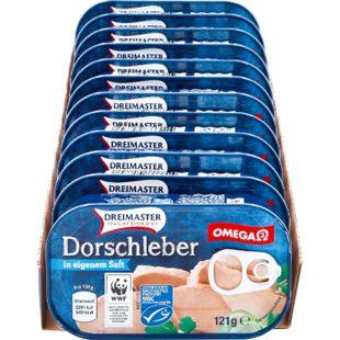 Dreimaster Dorschleber 121 g, 12er Pack - Bild 1