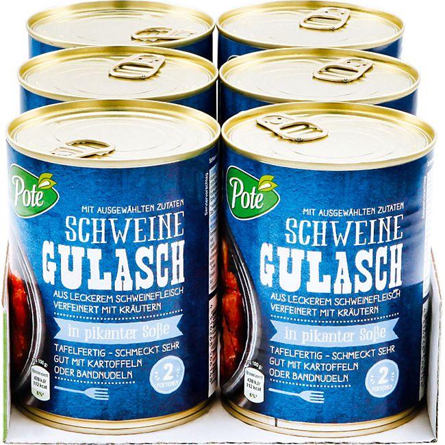 Pote Schweinegulasch 540 g, 6er Pack - Bild 1