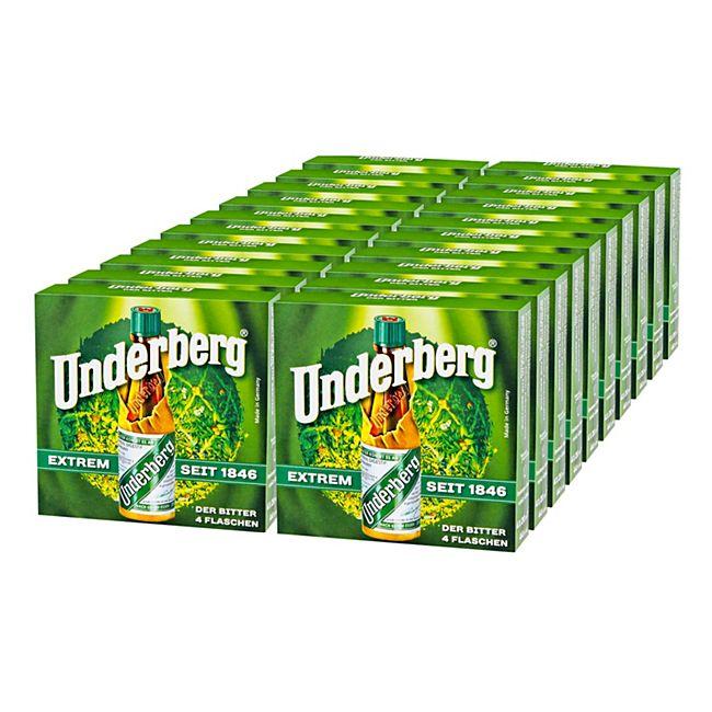 Underberg Kräuterlikör 44,0 % vol 4 x 20 ml, 20er Pack - Bild 1