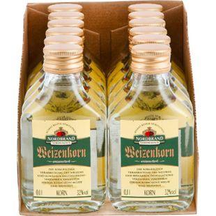 Nordbrand Nordhausen Weizenkorn 32,0 % vol 100 ml, 12er Pack - Bild 1