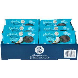 Bild für Schokoliebe Kokosflocken Zartbitter 200 g, 12er Pack