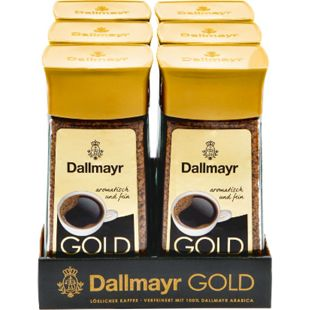 Dallmayr Gold Instantkaffee 200 g, 6er Pack - Bild 1