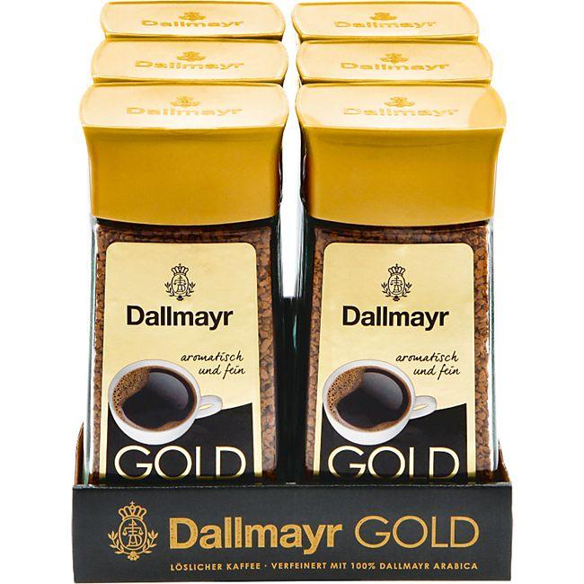 Dallmayr Gold Instantkaffee 200 g, 6er Pack - Bild 1