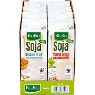 BioBio Sojadrink 1 Liter, verschiedene Sorten, 8er Pack - Bild 1