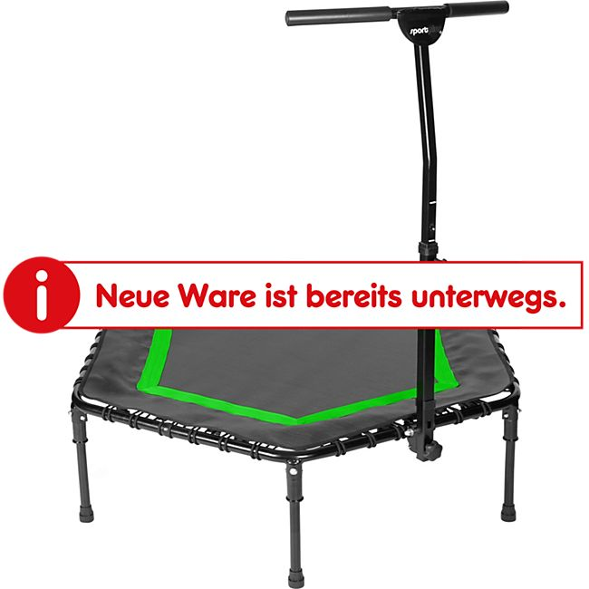 SPORTPLUS Fitness Trampoline mit patentiertem Klappmechanismus SP-T-111F-Grün - Bild 1
