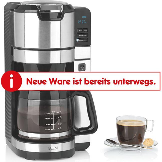 BEEM Kaffeemaschine Fresh Aroma Pure Glas 1100W schwarz/Edelstahl mit Mahlwerk - Bild 1
